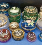Lot 116 | Estate Collection of Decorated Glass Dresser Boxes