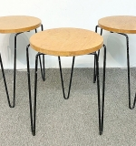 13. 3 Florence Knoll Stacking Tables on Hairpin Legs | $826