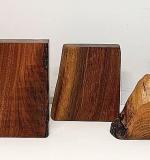 23. Five Free-edge Walnut Bookends | $430.50