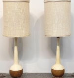 35. Pair of Midcentury Modern Pottery Table Lamps | $147.50