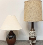 36. Two Modernist Pottery Table Lamps | $118