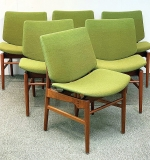 43. Six Finn Juhl Bo-116 Dining Chairs | $14,637