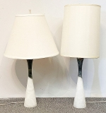 63. Pair of Italian Modern Alabaster Table Lamps | $110.70