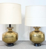 86. Pair of Midcentury Modern Brass Table Lamps | $531