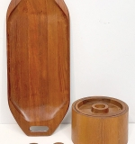 87. Grouping of Danish Teak Tablewares | $82.60