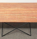 104. Eames-style Marble-top Coffee Table | $472