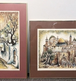 107. Pair of Zvi Livni Art Prints, City Scenes | $61.50