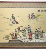 109. Large Framed Asian Silk Textile | $59