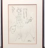 114. Jovan Obican. Drawing on Paper, Bride and Groom | $61.50