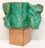 126. Lorenzo Burchielloro. Sculpture, Green Newspaper | $1,121