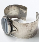 148. Sterling Cuff Bracelet with Striped Agate | $73.80