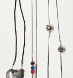 155. Lot of Three Silver Artisan Necklaces | $86.10