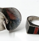 157. Two Sterling Rings, Including Georg Jensen | $92.25