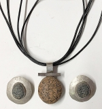 168. Artisan Sterling and Stone Necklace with Earrings | $49.20