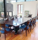 183. Custom Design Mahogany Dining Table And Chairs | $649