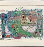189. Friedensreich Hundertwasser. Litho., Rain Drop Counter | $3,444
