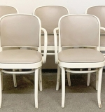 195. Five Thonet White-painted Bentwood Armchairs | $59