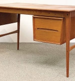 207. Danish Teak Desk With Sliding Compartment | $369