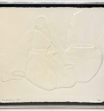 212. R.C. Gorman. Paper Cast Relief, Woman w/Pottery | $118