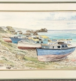 214. Scott. Watercolor, Colorful Boats | $23.60