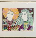 216. Eakman. Lithograph, Two Figures | $86.10