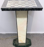 223. Art Deco-style Marble and Alabaster Game Table | $354