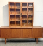 225. Danish Modern Teak Credenza and Cabinet | $1,107
