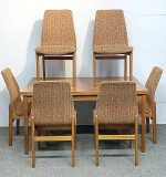 226. Scandinavian Modern Teak Dining Table and Chairs | $1,168.50