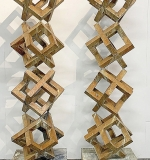 228. Pair of Modernist Stacked Cube-form Sculptures | $1,107