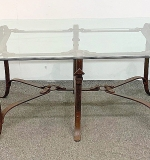 239. Decorator Iron Bridle Strap Design Coffee Table | $799.50