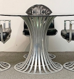 242. Woodard Aluminum Dining Set | $1,180