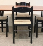 243. Danish Teak Dining Table and Four Chairs | $301.35