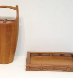 244. Dansk Teak Ice Bucket and Tray | $118