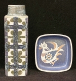 245. Two Pieces of Royal Copenhagen Faience Pottery | $82.60