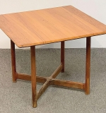 254. Rasmus Solberg Norway Teak Occasional Table	| $246