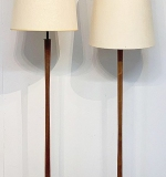 257. Two Danish Teak Floor Lamps | $369.00