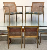 265. American Modern Dining Table and Six Chairs | $324.50