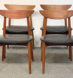 266. Four Randers Mobelfabrik Teak Dining Chairs | $560.50