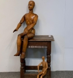 291. Two Articulated Artist's Mannequins |  $1,062.50