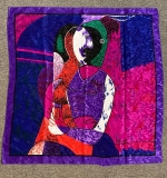 292. Picasso Silk Scarf with Cubist Figural Scene |  $24