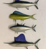 294. Four Carved & Painted Wood Gamefish |  $210
