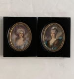 302. Two Miniature Portraits Of Women, Signed Laurent |  $450