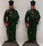 306. Pair of Painted Cast Iron Soldier Figures |  $210