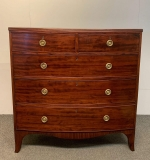 315. Federal Mahogany Bow Front Chest of Drawers |  $375
