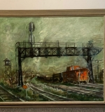 330. Nolan Brenner. Oil/Panel, Red Caboose |  $240