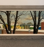 332. John O'Neill. Watercolor/Acrylic, View From Window |  $330