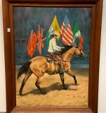 340. Mille Funk. Oil/Canvas, Horse With Rider, 1966 |  $96