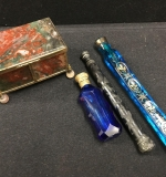 351. Three Lachrymatory or Tear Catchers and Agate Box |  $250