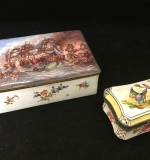 352. Two Antique French Enameled Hinged Boxes |  $72
