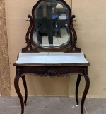 362. French-style Victorian Carved Rosewood Vanity |  $108